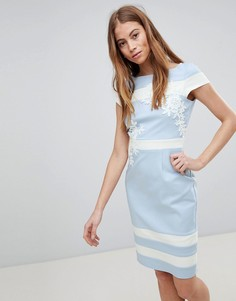 Синее ажурное платье Paper Dolls - Синий