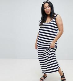 Платье-майка макси в полоску ASOS DESIGN Curve Ultimate - Мульти