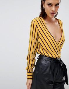 Блузка в полоску с запахом Y.A.S - Мульти