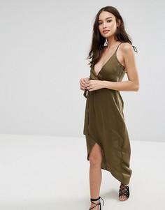Платье с завязкой на талии Influence - Зеленый