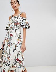 Платье миди с цветочным принтом C/meo Collective - Мульти