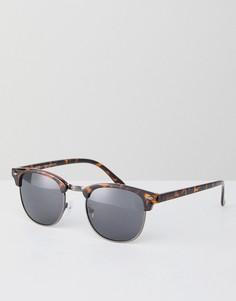 Квадратные солнцезащитные очки в коричневой оправе New Look - Коричневый