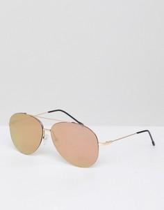 Солнцезащитные очки‑авиаторы цвета розового золота Jeepers Peepers - Золотой