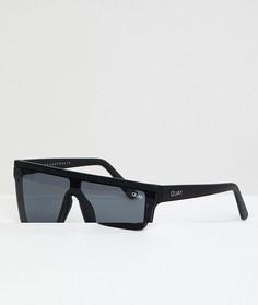 Черные квадратные солнцезащитные очки Quay Australia эксклюзивно для ASOS - Черный