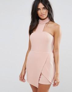 Ромпер с юбкой-шортами и чокером Ax Paris - Розовый