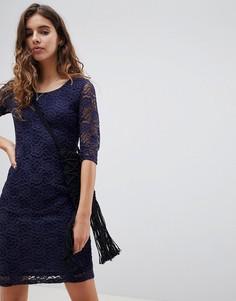 Кружевное платье миди Glamorous - Темно-синий