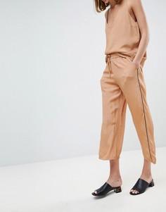 Широкие брюки с принтом Moss Copenhagen - Рыжий