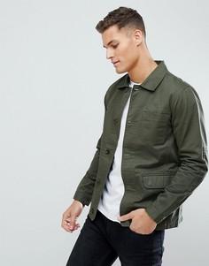Хлопковая куртка Threadbare - Зеленый