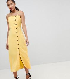 Сарафан на бретелях с пуговицами Fashion Union Tall - Желтый