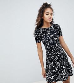 Чайное платье мини в горошек ASOS DESIGN Tall ultimate - Мульти