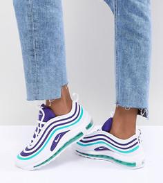 Бело-фиолетовые кроссовки Nike Air Max 97 - Мульти