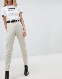 Джинсы в винтажном стиле с завышенной талией Dr Denim Nora - Бежевый