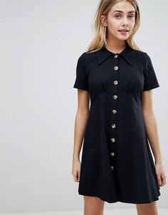 Платье-рубашка ASOS DESIGN - Черный