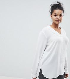 Блузка с V-образным вырезом ASOS DESIGN Curve - Белый