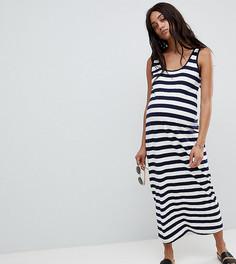 Платье-майка макси в полоску ASOS DESIGN Maternity - Мульти