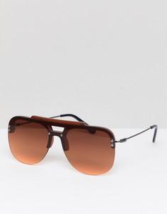 Коричневые солнцезащитные очки в стиле ретро Spitfire - Коричневый