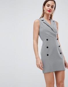 Платье мини без рукавов в клетку ASOS DESIGN - Мульти