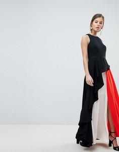 f2a84468579549e Женские длинные платья в пол (макси) с разрезами по бокам – купить в ...