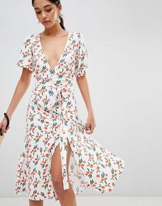 Платье миди с принтом Bec & Bridge - Мульти