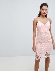Кружевное платье на бретелях AX Paris - Розовый