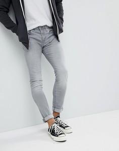 Выбеленные серые джинсы скинни Esprit - Серый