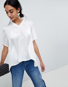 Блузка со складками на спине b.Young - Белый