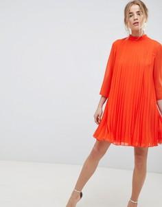 Платье-трапеция мини ASOS DESIGN - Оранжевый