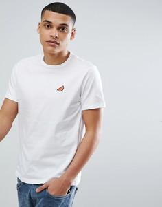 Белая футболка с вышивкой арбузов Burton Menswear - Белый