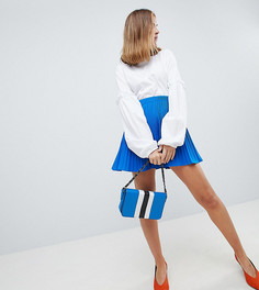 Плиссированная мини-юбка ASOS DESIGN Petite - Синий