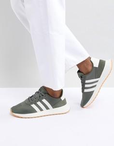 Кроссовки Adidas Flashback Runinng - Зеленый