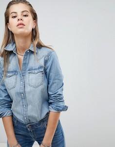 Светлая джинсовая рубашка Replay - Синий