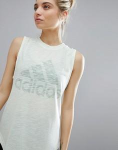 Бледно-зеленая майка adidas Winners - Зеленый