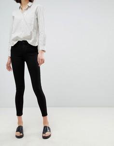 Зауженные джинсы с классической талией Waven Freya - Черный