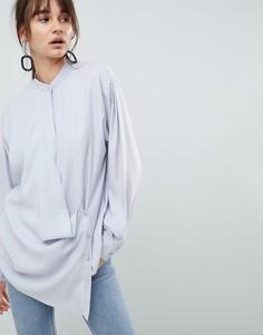 Рубашка с запахом ASOS WHITE - Серый