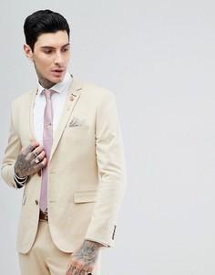 Эластичный приталенный пиджак Harry Brown Biscuit - Бежевый