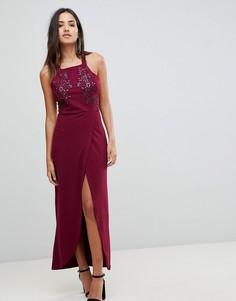 Платье макси с запахом AX Paris - Фиолетовый