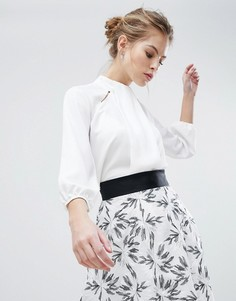 Рубашка с высоким воротом Vesper - Белый