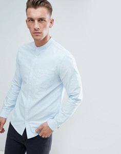 Голубая оксфордская рубашка с воротником на пуговицах New Look - Синий