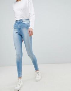 Зауженные джинсы с завышенной талией Waven Anika - Синий