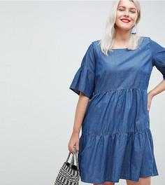 Ярусное джинсовое платье Junarose - Синий