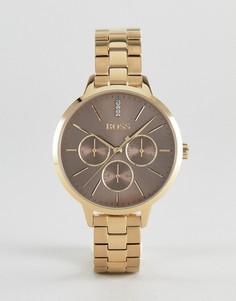 Золотистые наручные часы с хронографом BOSS 1502422 Symphony - Золотой