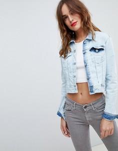 Светлая укороченная джинсовая куртка Replay - Синий