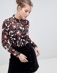 Блузка с принтом Traffic People - Черный