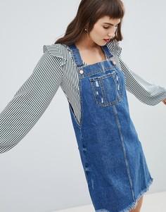 Джинсовое платье-комбинезон River Island - Синий