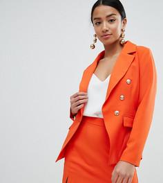 Блейзер с золотистыми пуговицами Missguided Petite - Оранжевый