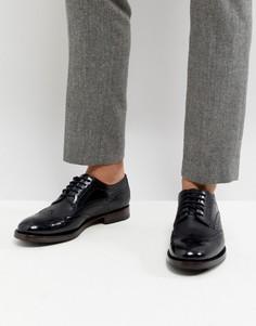 Черные кожаные броги Ted Baker Senape - Черный