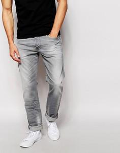 Серые выбеленные джинсы зауженного кроя Diesel Buster 839N - Серый