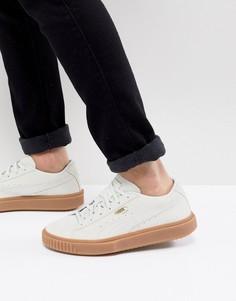 Белые замшевые кроссовки с каучуковой подошвой Puma Breaker 36607902 - Белый
