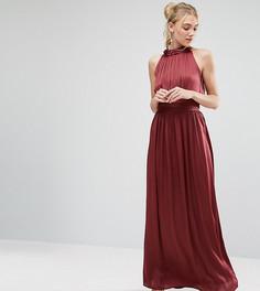 Плиссированное платье макси для выпускного с оборкой Little Mistress Tall - Красный