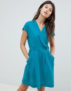 Короткое приталенное платье Louche - Зеленый